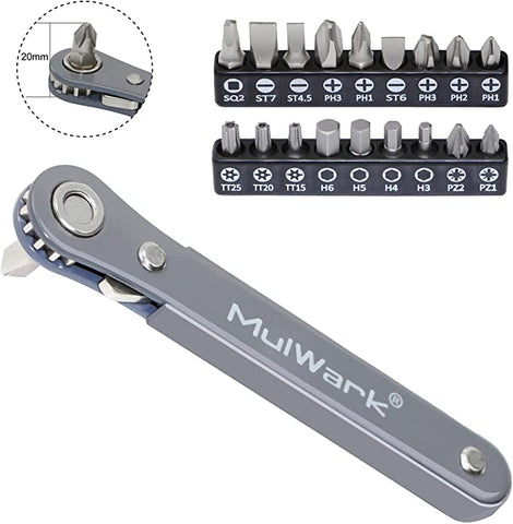 MulWark Profile Ratchet Quarters Screwdriver