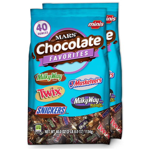 Chocolate Minis Candy Variety 40 Ounce