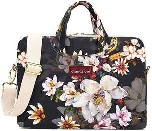 Canvaslove Flower Pattern Weight Shoulder