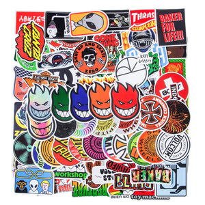 Stickers Fashion Skateboard Computer Waterproof