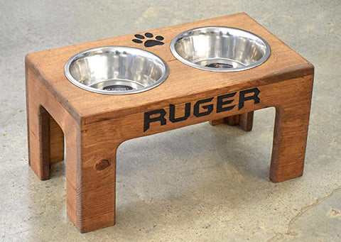Elevated Dog Feeder Storage Box