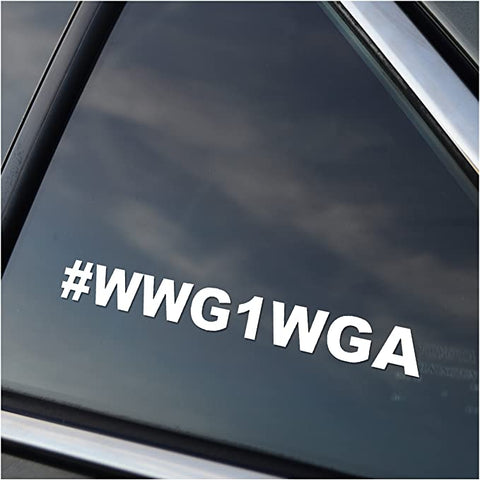 Image of WWG1WGA Vinyl Window Decal Sticker