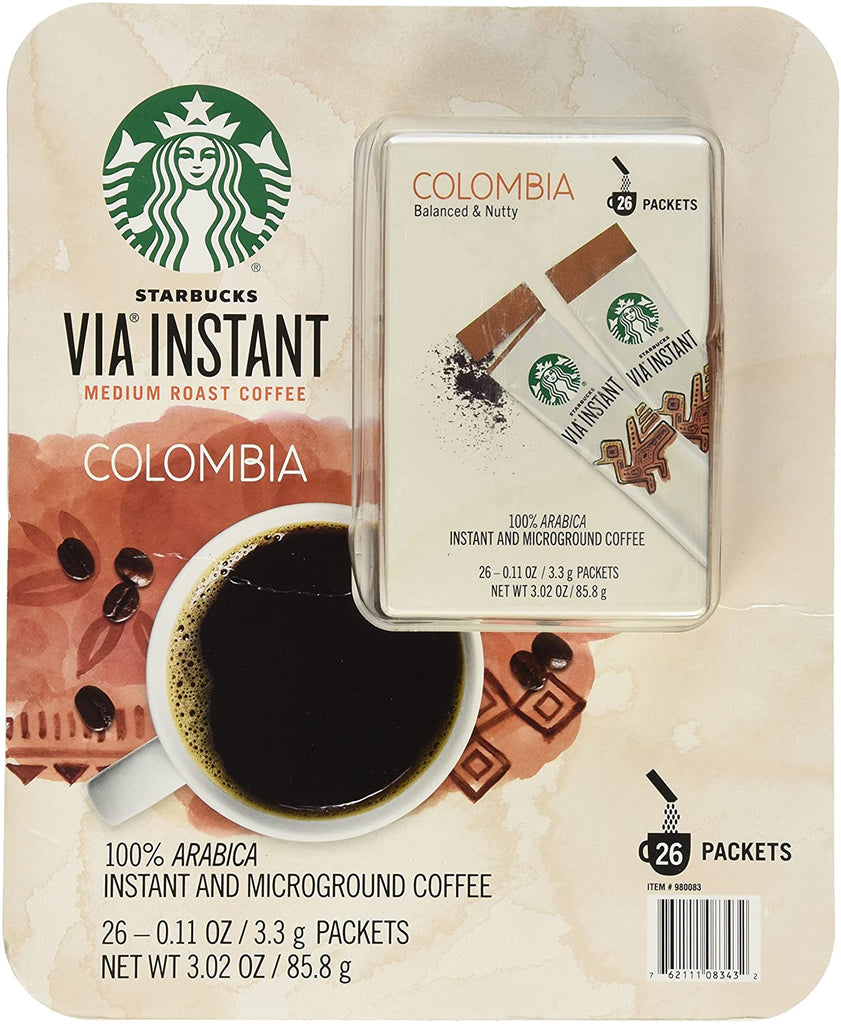 Starbucks Instant Medium Colombia Coffee