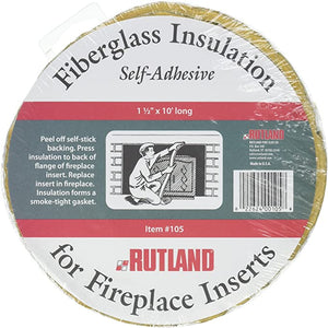Rutland Fireplace Insulation Fiberglass 10 Feet