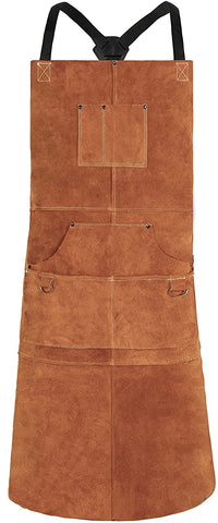 QeeLink Leather Welding Apron Flame Resistant