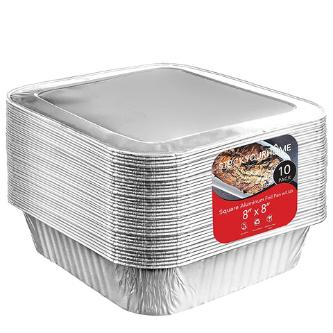Foil 10Count Square Aluminum Covers