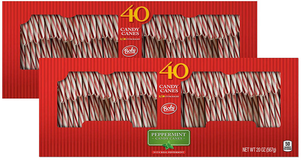 Brachs White Candy Canes Peppermint