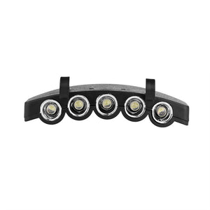 Clip-On 5-LED Head Lights  Hat Clip