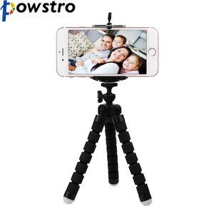 Universal Black Mini Flexible Tripod  Bracket Stand for Smart Phone