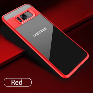 Men's Luxury Clear Case For Samsung Galaxy S8 S8 Plus ~ Silicone Cover Shockproof Armor
