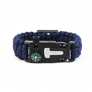 Paracord Survival Band with a ton of stuff on it!