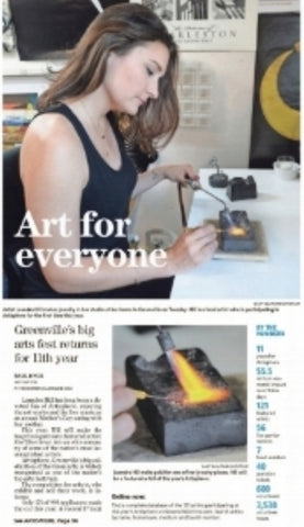 The Greenville News Leandra Hill Metal Works May 2015