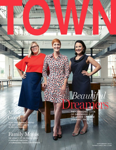 TOWN Greenville Magazine Leandra Hill Metal Works September 2016