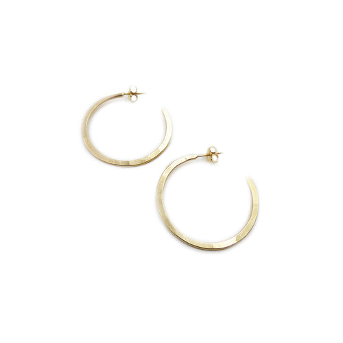 Hoop Earrings: 14k Gold