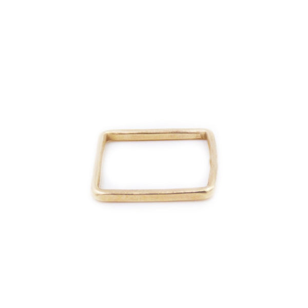 Square Band Ring: 14K Gold