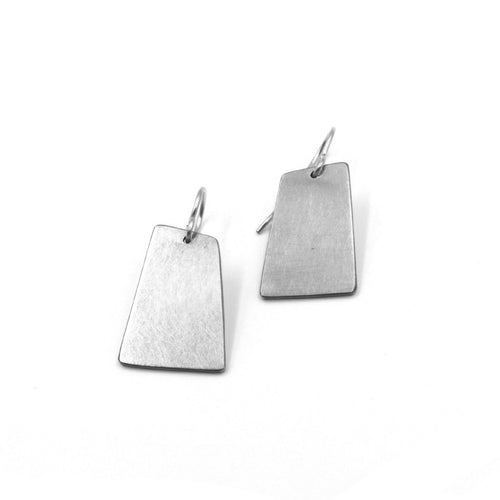 gold minimalist silver geometric earrings leandra hill
