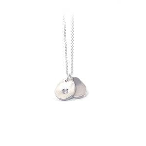 Serendipity Necklace with Gemstone: Sterling Silver