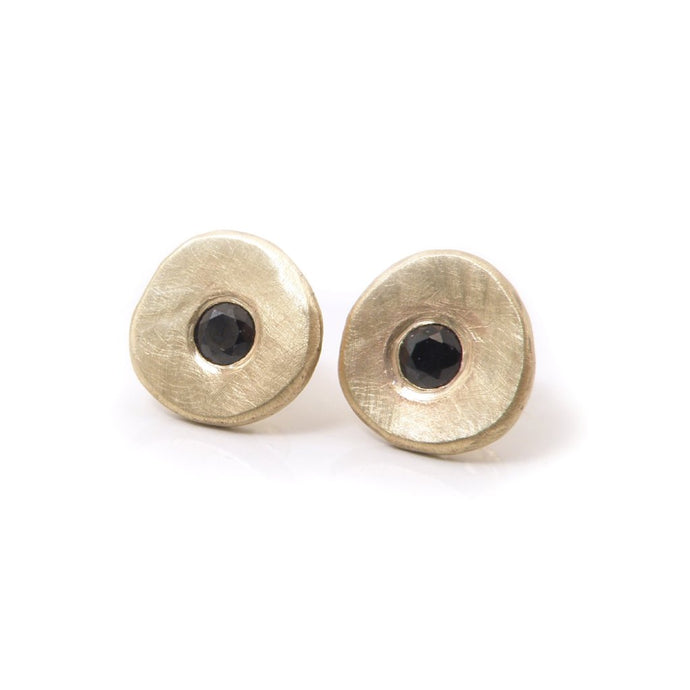 Serendipity Studs with Gemstones: 14K Gold