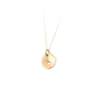 Serendipity Necklace with Gemstone: 14k Gold
