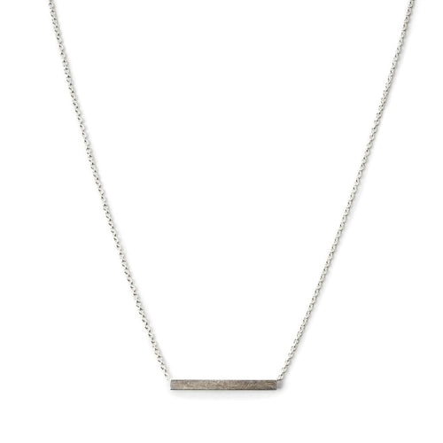 Bar Necklace: Sterling Silver