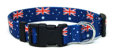 Australian flag dog collar