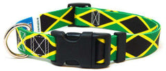Jamaica - Jamaican Flag Dog Collar