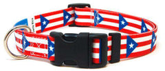 Puerto Rico - Puerto Rican Flag Dog Collar