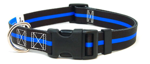 Thin Blue Line Dog Collar