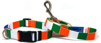 Ireland Flag Dog Collar & Leash Set