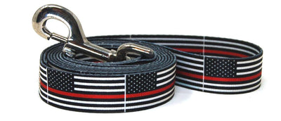 Thin Red Line Flag Dog Leash