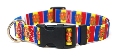 Andorra flag dog collar