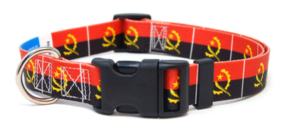 Angola Flag Dog Collar