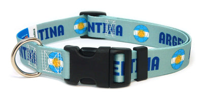 Argentina soccer flag dog collar