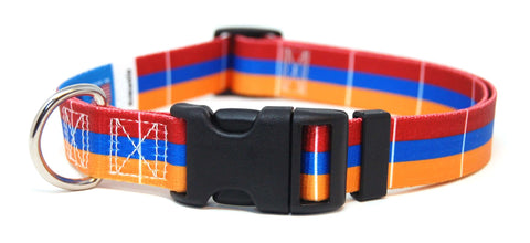 Armenian Flag Dog Collar