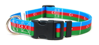Azerbaijan flag dog collar