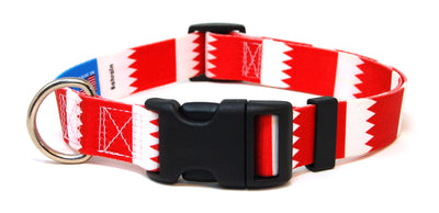 Bahrain flag dog collar