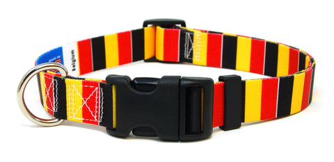 Belgium Flag Dog Collar | Belgian