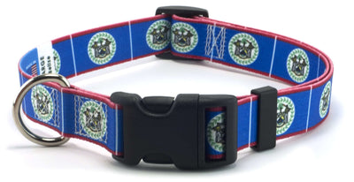 Belize flag dog collar