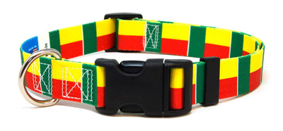 Benin flag dog collar