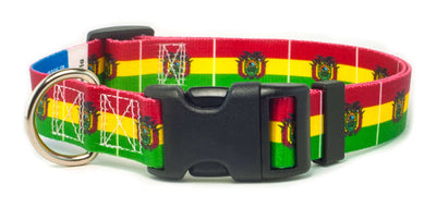 Bolivia flag dog collar