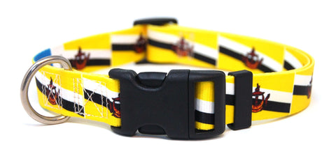 Brunei Flag Dog Collar | Bruneian