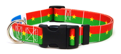 Burkina Faso flag dog collar