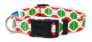 Burundi flag dog collar