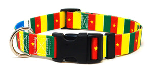 Cameroon flag dog collar