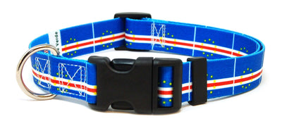 Cape Verde flag dog collar