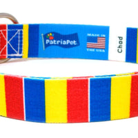 Chad flag dog collar