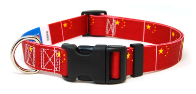 China flag dog collar