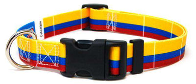 Colombia flag dog collar
