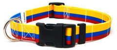 Colombia Colombian Flag Dog Collar