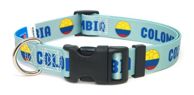 Colombia soccer dog collar